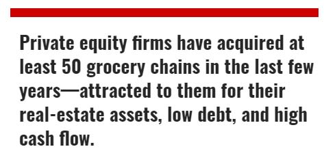 Private Equity Pillage: Grocery Stores and Workers At Risk